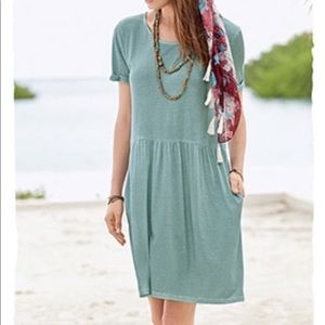 Peruvian Connection Playa Pocket Dress Verdigris